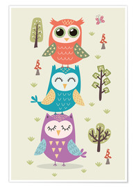 Poster  Three owls - Kidz Collection