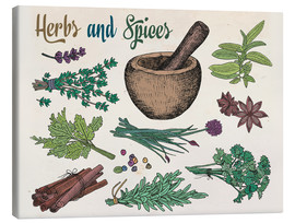 Tableau sur toile  Herbs and spices