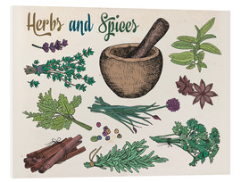 Tableau en PVC  Herbs and spices
