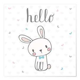 Poster  Hello petit lapin - Kidz Collection