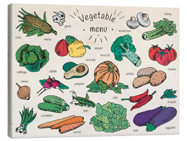 Tableau sur toile  Little vegetable menu