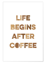 Poster  After coffee - Typobox