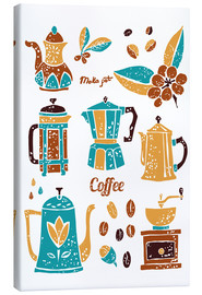 Tableau sur toile  Coffee Collection