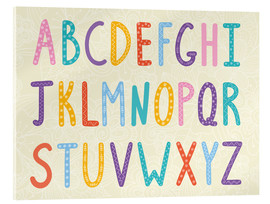 Verre acrylique  Colorful ABC letters - Typobox