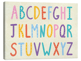 Toile  Colorful ABC letters - Typobox