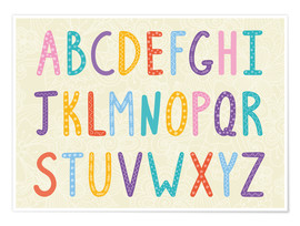 Poster  Alphabet coloré - Typobox