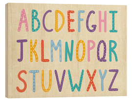 Bois  Colorful ABC letters - Typobox