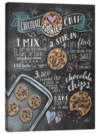 Toile  Recette des Chocolate chip cookies (anglais) - Lily & Val