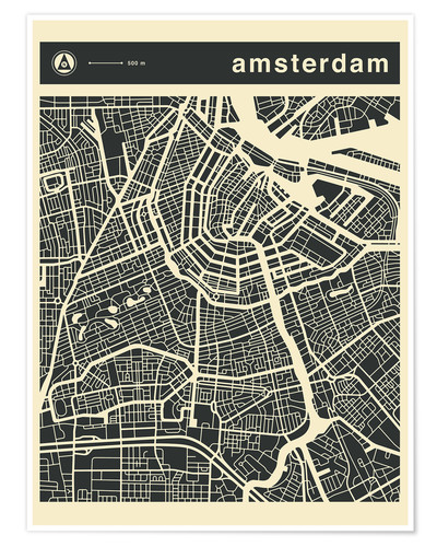 Poster AMSTERDAM CITY MAP