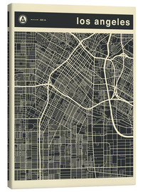 Toile  Los Angeles City map - Jazzberry Blue