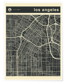 Poster Los Angeles City map