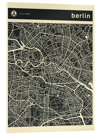 Verre acrylique  Berlin City Map - Jazzberry Blue