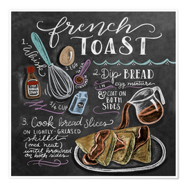 Poster  Recette du French toast (anglais) - Lily & Val