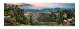Poster  Saxon Switzerland in autumn, Saxony, Germany - Jan Christopher Becke