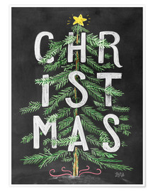 Poster  29957 Christmas Tree Text - Lily & Val