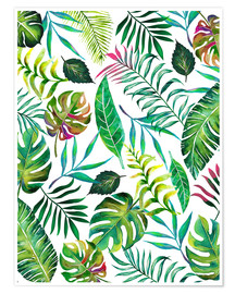 Poster Flore tropicale