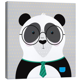 Toile  Panda with Glasses - ilaamen Pelshaw