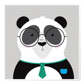 Poster Panda with Glasses