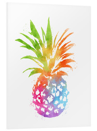 Tableau en PVC  WC Pineapple 16x20 - Mod Pop Deco