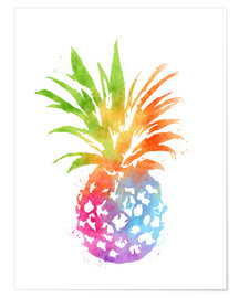 Poster  Ananas coloré - Mod Pop Deco