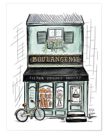 Poster  French Shop Front - Boulangerie - Lily & Val