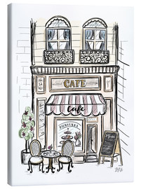 Toile  French Shop Front - Café - Lily & Val