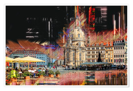 Poster  The new old Fauenkirche in Dresden - Peter Roder