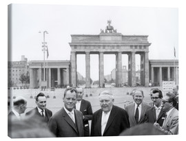 Tableau sur toile  Ludwig Erhard and Willy Brandt