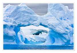 Poster  Large Arctic iceberg with a cavity inside