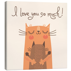 Tableau sur toile  I love you so much - Kidz Collection