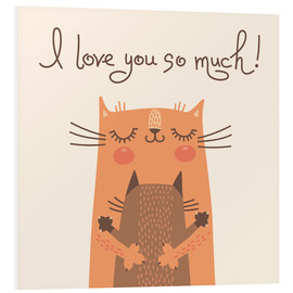 Tableau en PVC  I love you so much - Kidz Collection