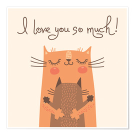 Poster  I love you so much - Kidz Collection