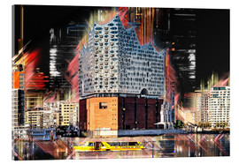 Tableau en verre acrylique  The new Elbphilharmonie in Hamburg - Peter Roder
