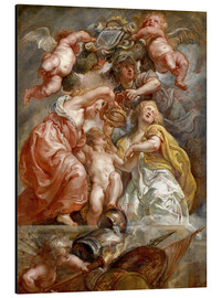 Tableau en aluminium  The Union of England and Scotland (Charles I as the Prince of Wales) - Peter Paul Rubens