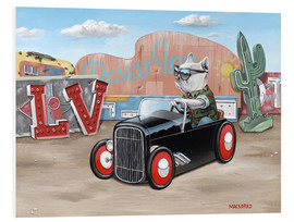 Tableau en PVC  French Las Vegas Hot Rod - Macsorro