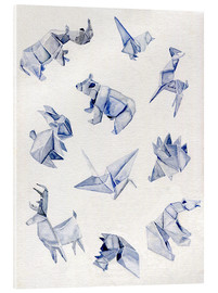 Verre acrylique  Origami animals - Jennifer McLennan