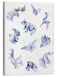 Toile  Origami animals - Jennifer McLennan