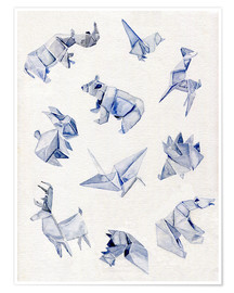 Poster  Origami animals - Jennifer McLennan