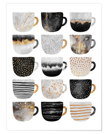 Elisabeth Fredriksson - Pretty Coffee Cups 3   White