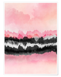 Poster Montagnes roses