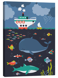 Tableau sur toile  Life under water - Kidz Collection