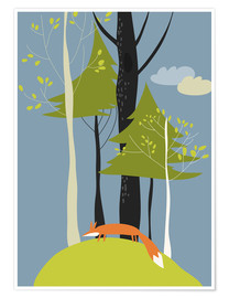 Poster Fox in the forest