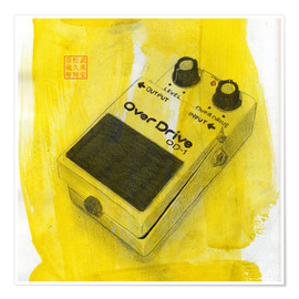 Poster Overdrive Pedal