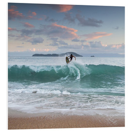 Alex Saberi - Surfing at sunset in paradise