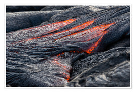 Poster  Hot flowing Lava on Big Island, Hawaii - Markus Ulrich
