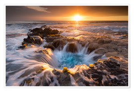 Poster  Pools of Paradise during Sunset at the Coast of Hawaii (Big Island) - Markus Ulrich