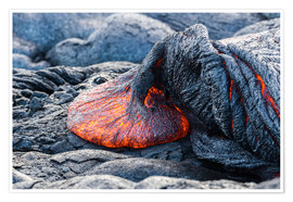 Poster  Fresh Lava Flow on Big Island, Hawaii - Markus Ulrich