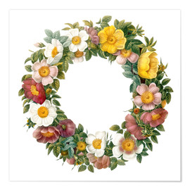 Poster Couronne de roses sauvages
