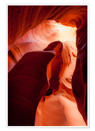 Poster  Formation in Canyon X slot canyon, Page, Arizona, USA - Peter Wey