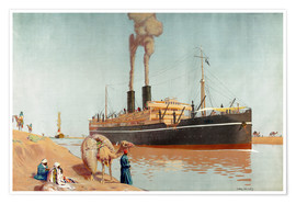 Poster  canal de Suez - Charles Pears